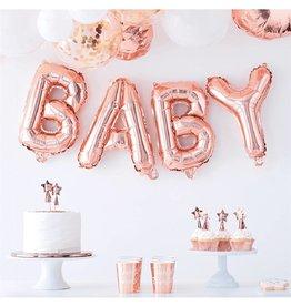 Ginger Ray Folie ballon 'Baby' rosé goud