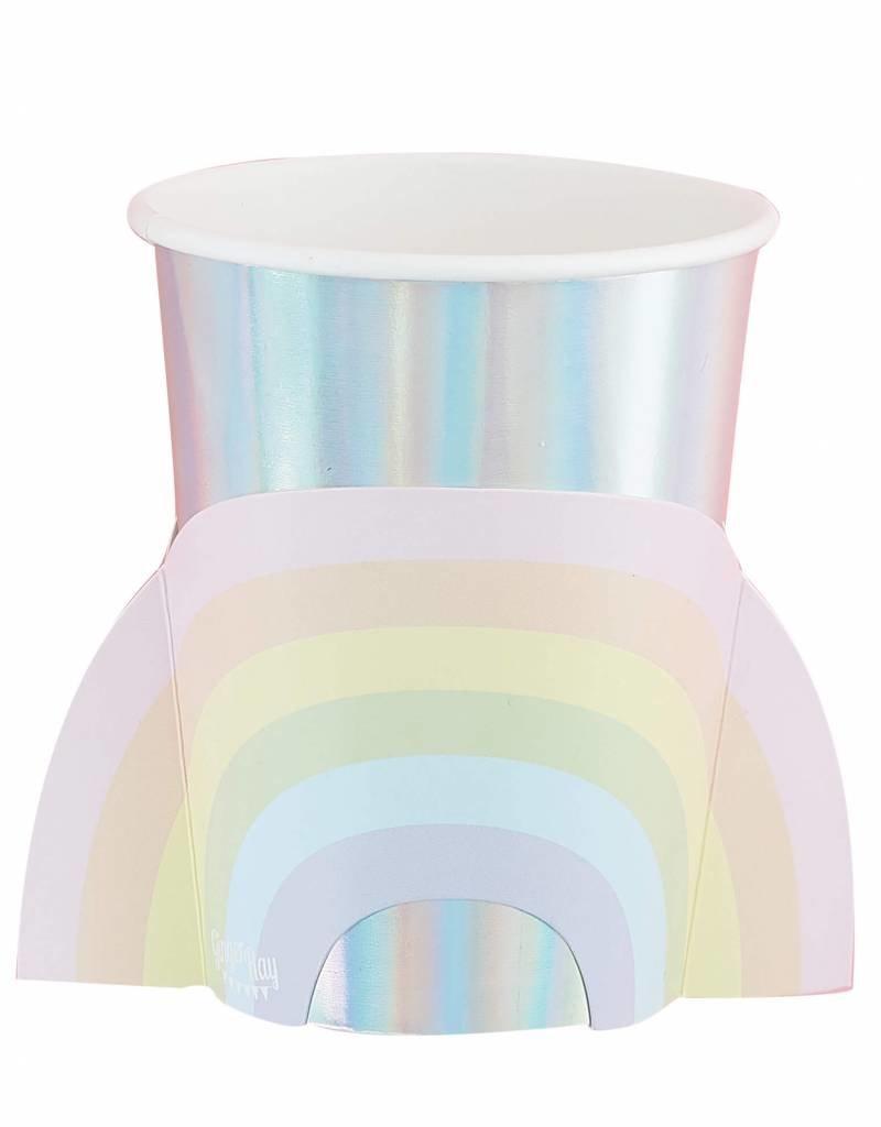 Ginger Ray Papieren bekertjes regenboog | 8 stuks