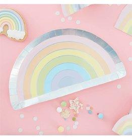 Ginger Ray Papieren bordjes regenboog | 8st