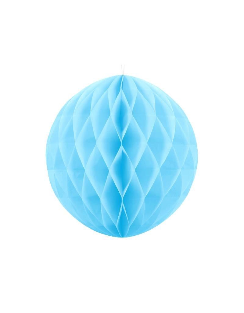 PartyDeco Honeycomb lichtblauw (40 cm)