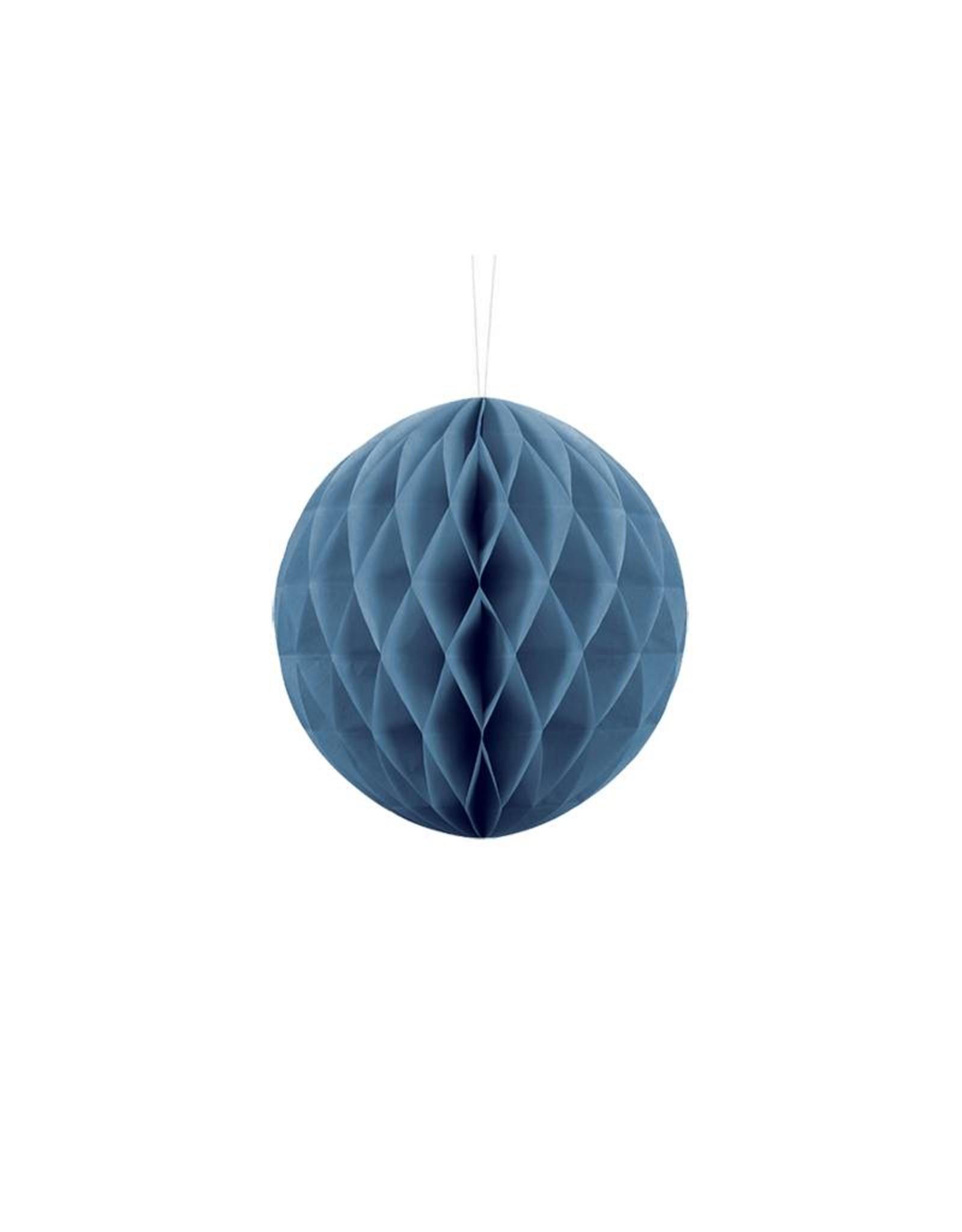 PartyDeco Honeycomb donkerblauw (20 cm)