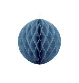 PartyDeco Honeycomb donkerblauw (30 cm)