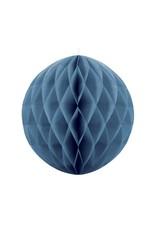 PartyDeco Honeycomb donkerblauw (40 cm)
