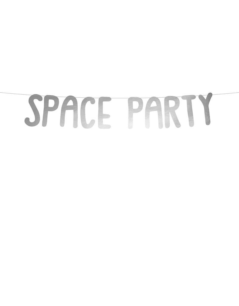 PartyDeco Slinger 'Space party' zilver | 96 cm