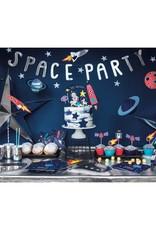 PartyDeco Slinger 'Space party' zilver   96 cm