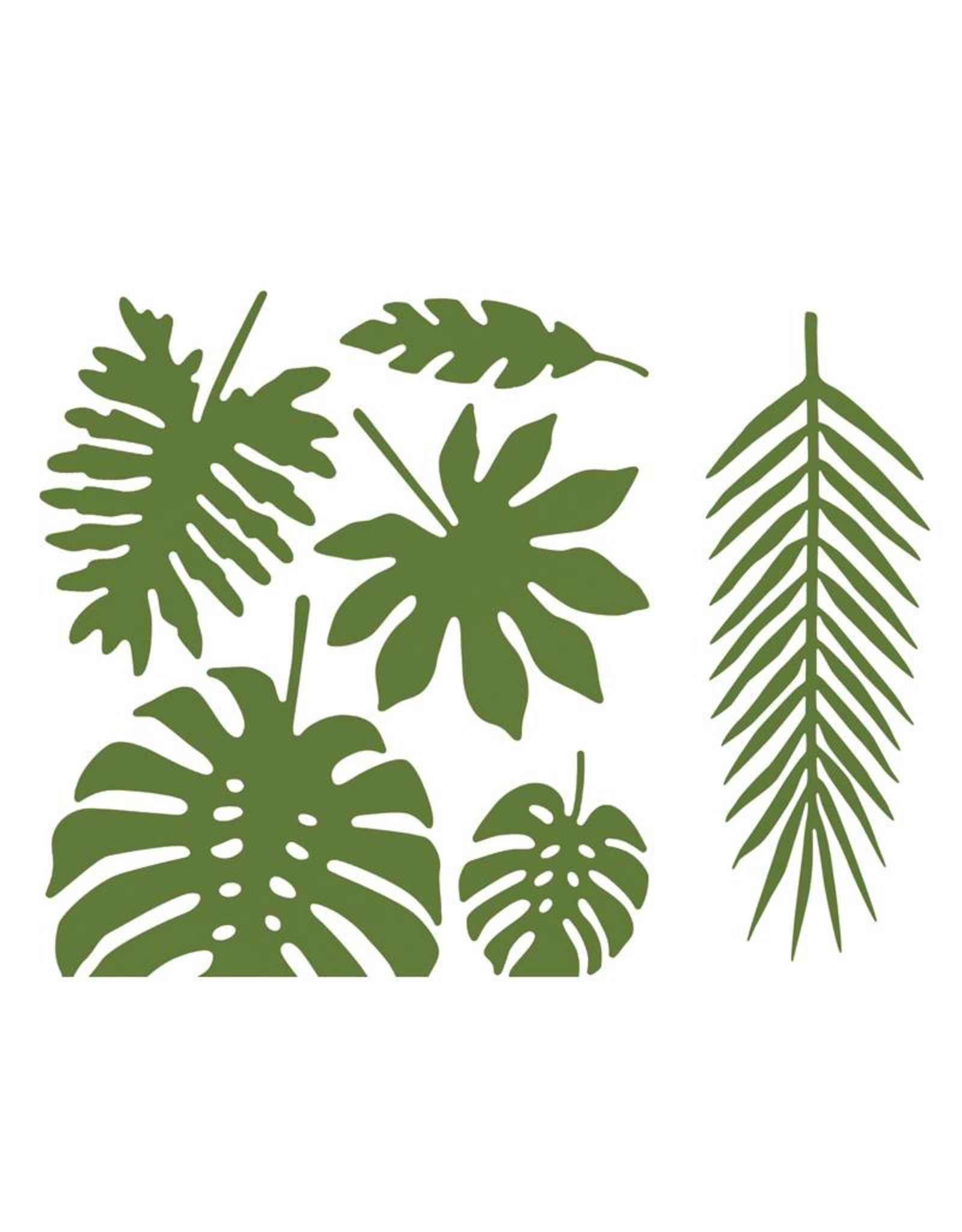 PartyDeco Decoratie bladeren tropical leaves | 21 stuks