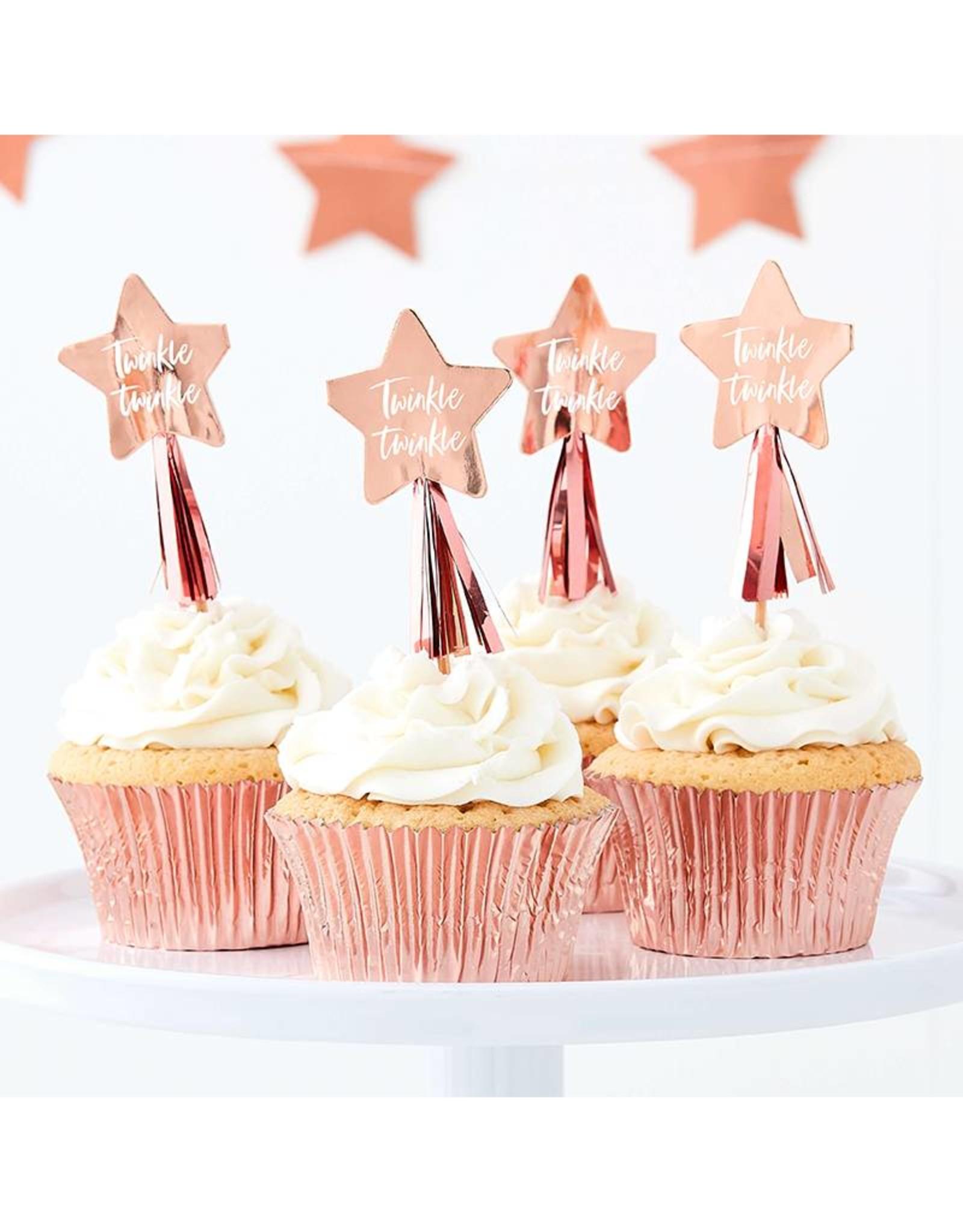 Ginger Ray Cupcake prikkers Twinkle Twinkle | 12 stuks