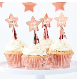 Ginger Ray Cupcake prikkers Twinkle Twinkle | 12st