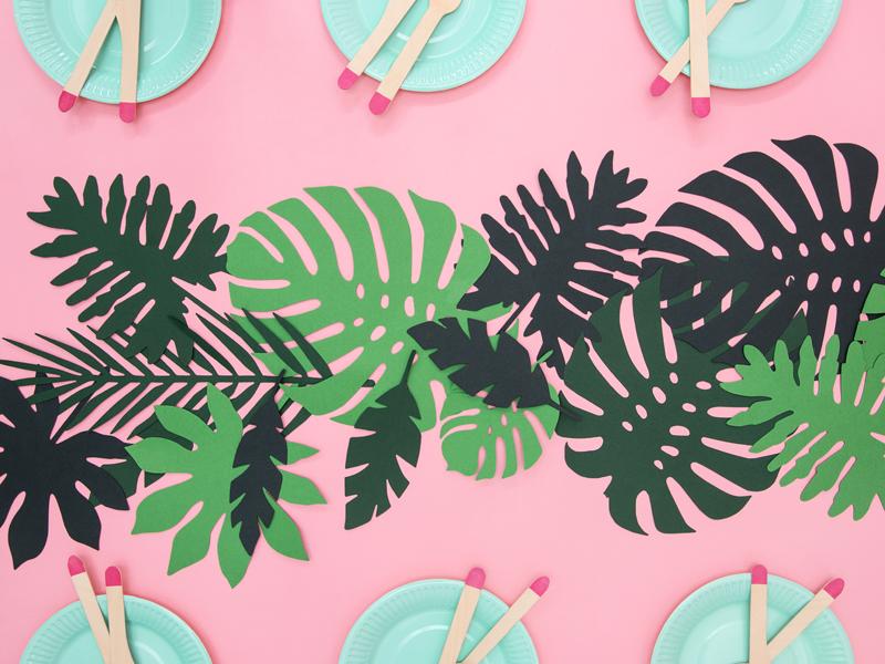 Tafelloper decoratie bladeren