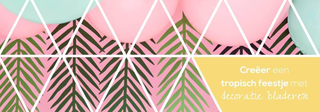 Creëer een tropisch feestje met  decoratie bladeren