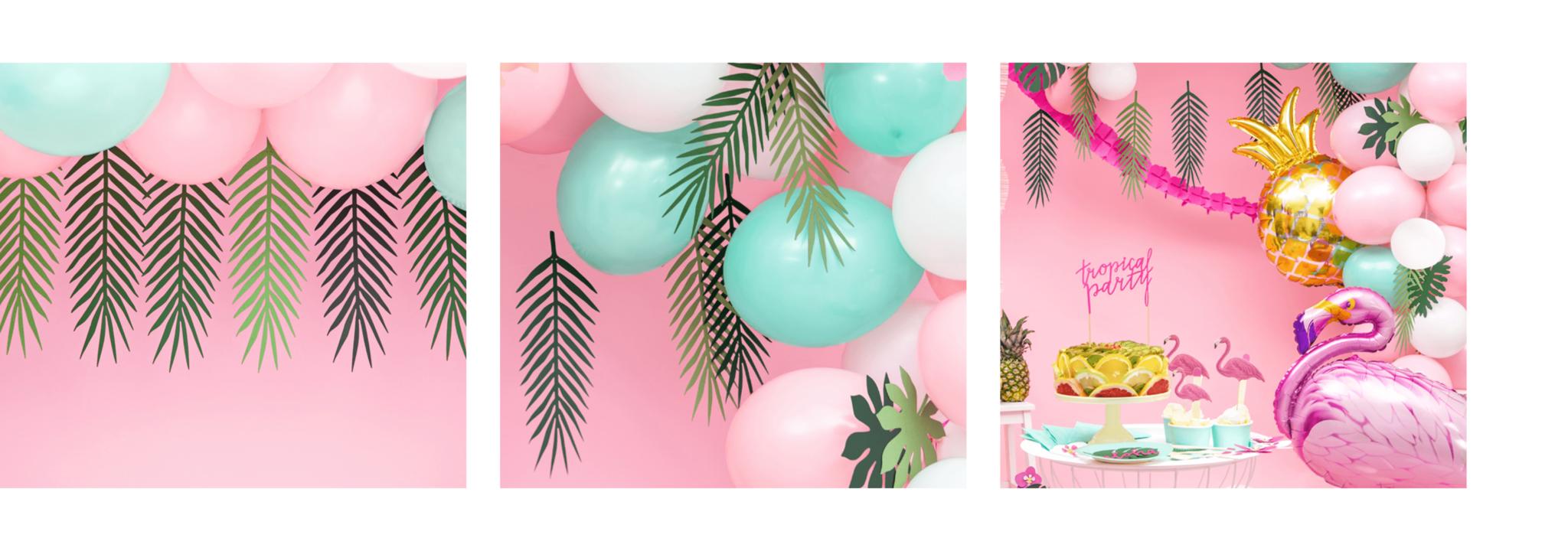 Decoratie bladeren ballonnen