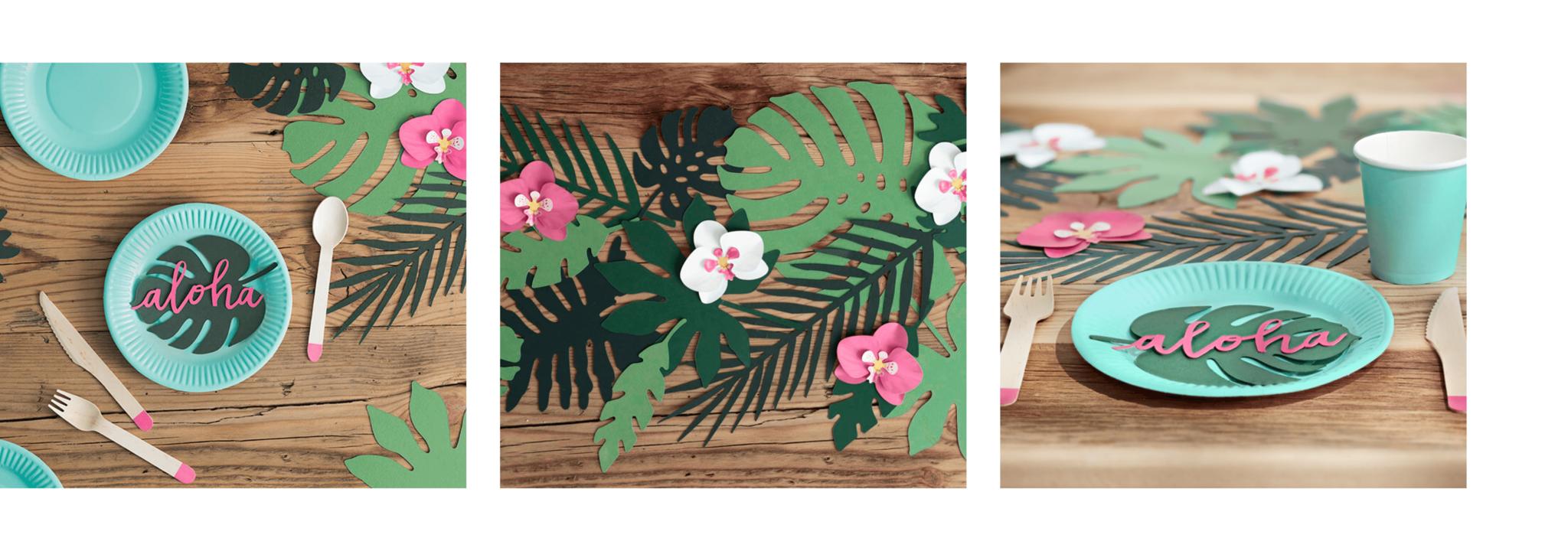Tafeldecoratie bladeren