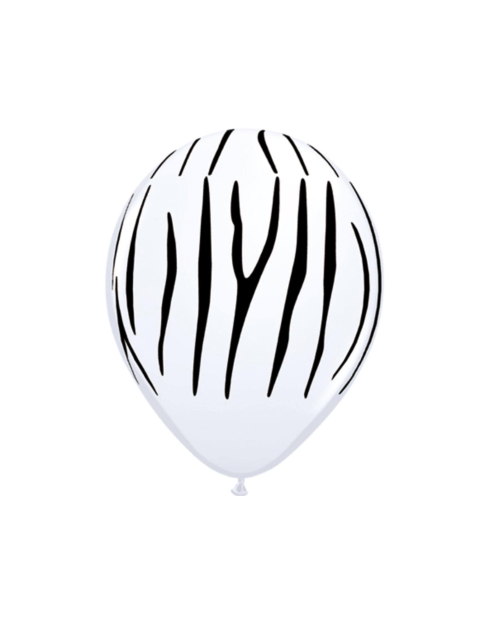Folat Ballonnen zebra print | 5 stuks
