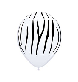 Folat Ballonnen zebra print | 5st
