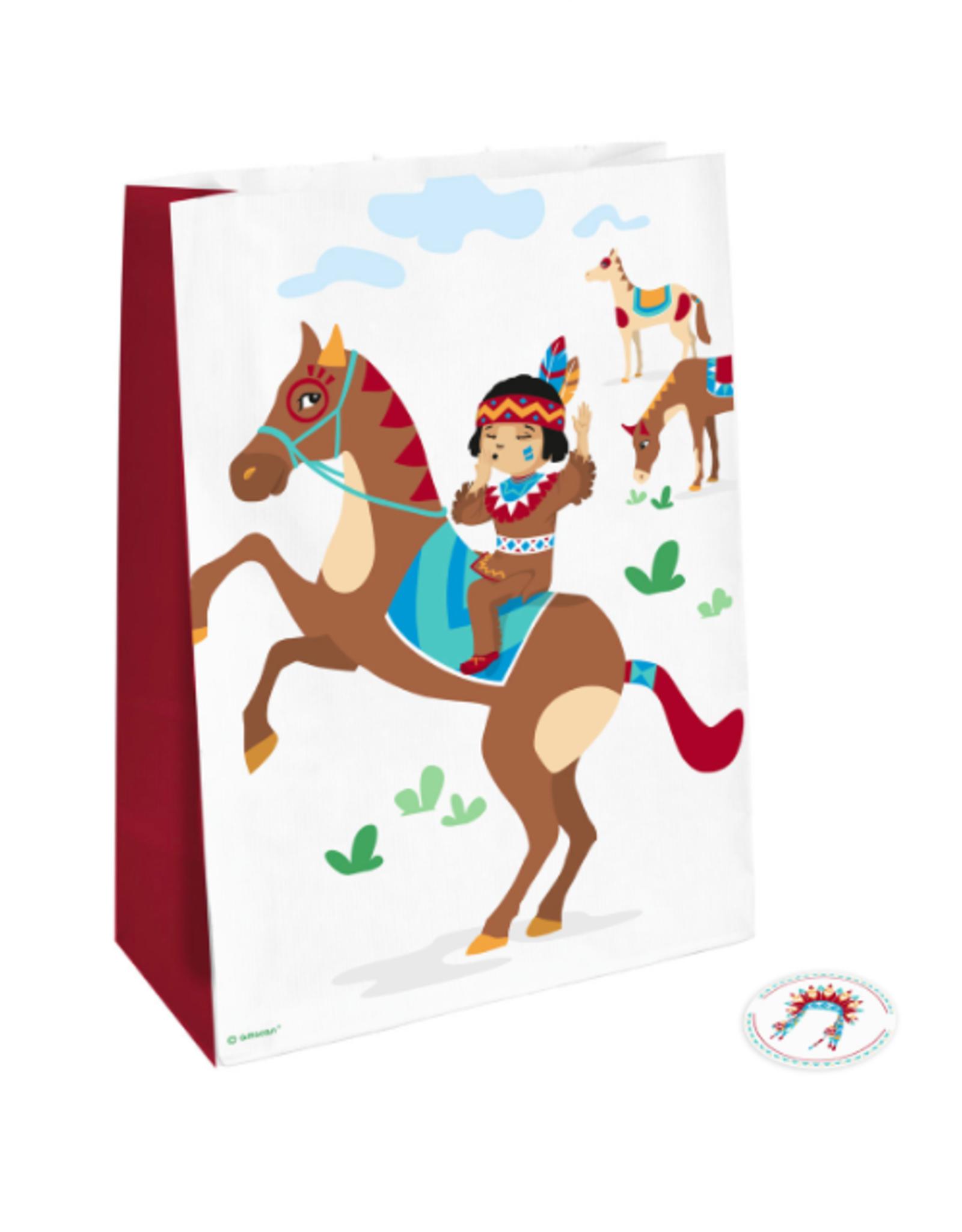 Amscan Zakjes indianen | 4 stuks