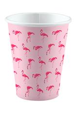 Amscan Papieren bekertjes flamingo | 8 stuks