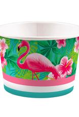 Amscan Snack- / ijsbakjes flamingo | 8 stuks
