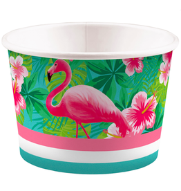 Amscan Snack- / ijsbakjes flamingo | 8st