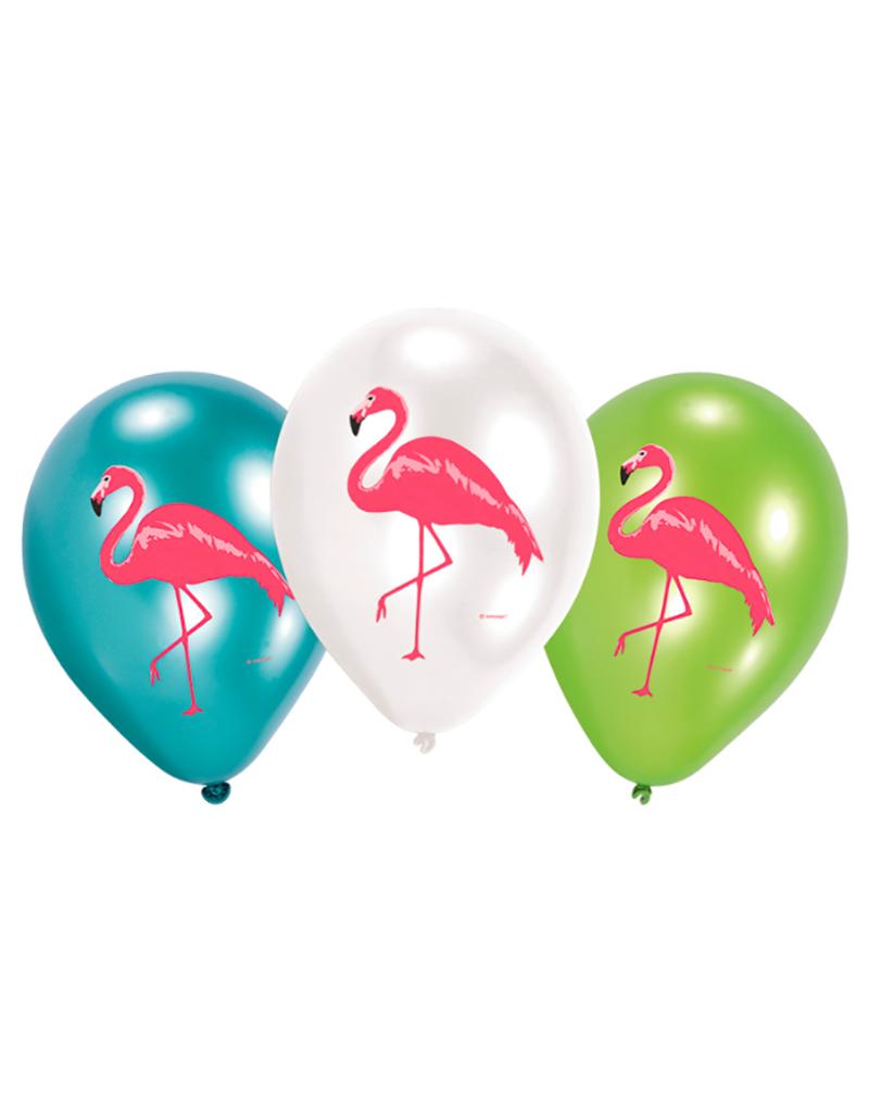 Amscan Ballonnen flamingo print | 6 stuks