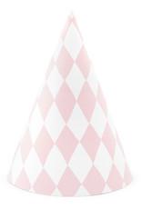 PartyDeco Feesthoedjes pastel diamant | 6 stuks