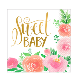 Amscan Servetten 'Sweet baby' | 16st