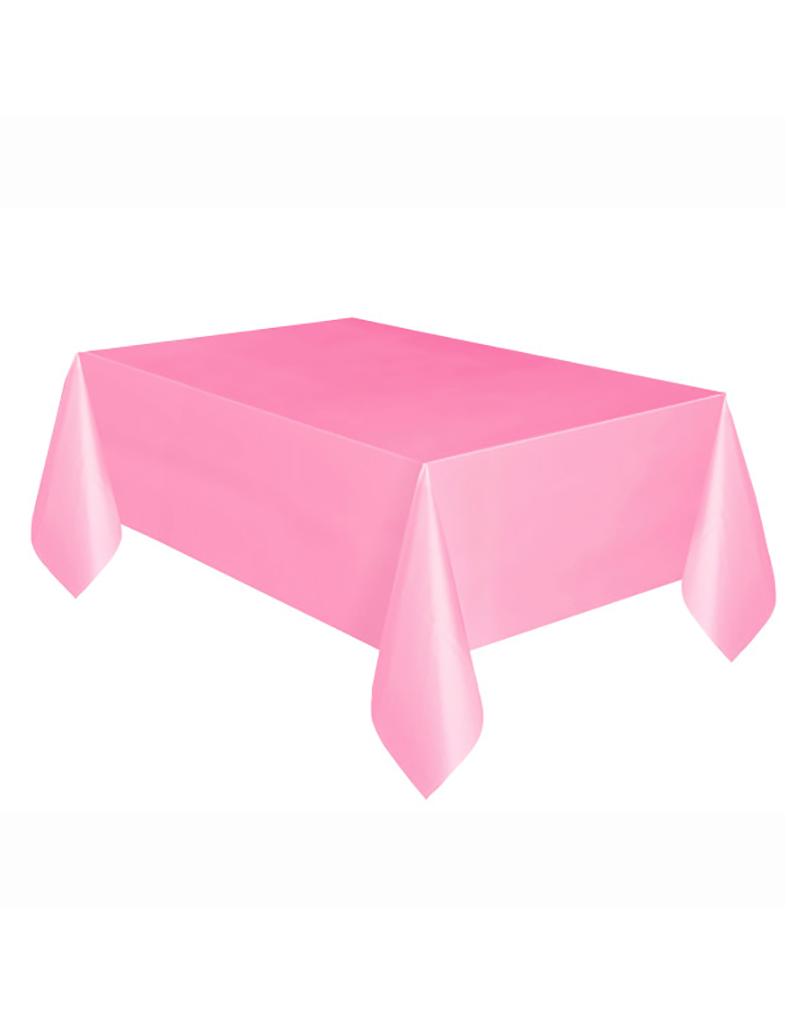 HAZA Plastic tafelkleed roze   137 x 274 cm