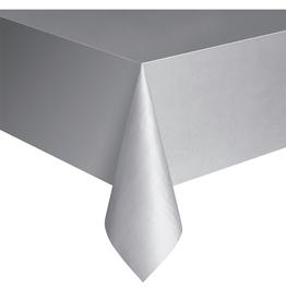 HAZA Plastic tafelkleed zilver | 137 x 274 cm