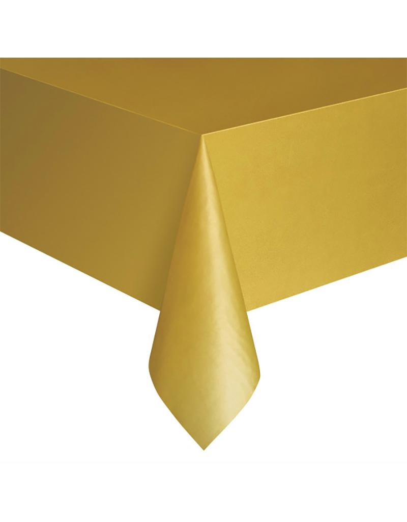 HAZA Plastic tafelkleed goud | 137 x 274 cm