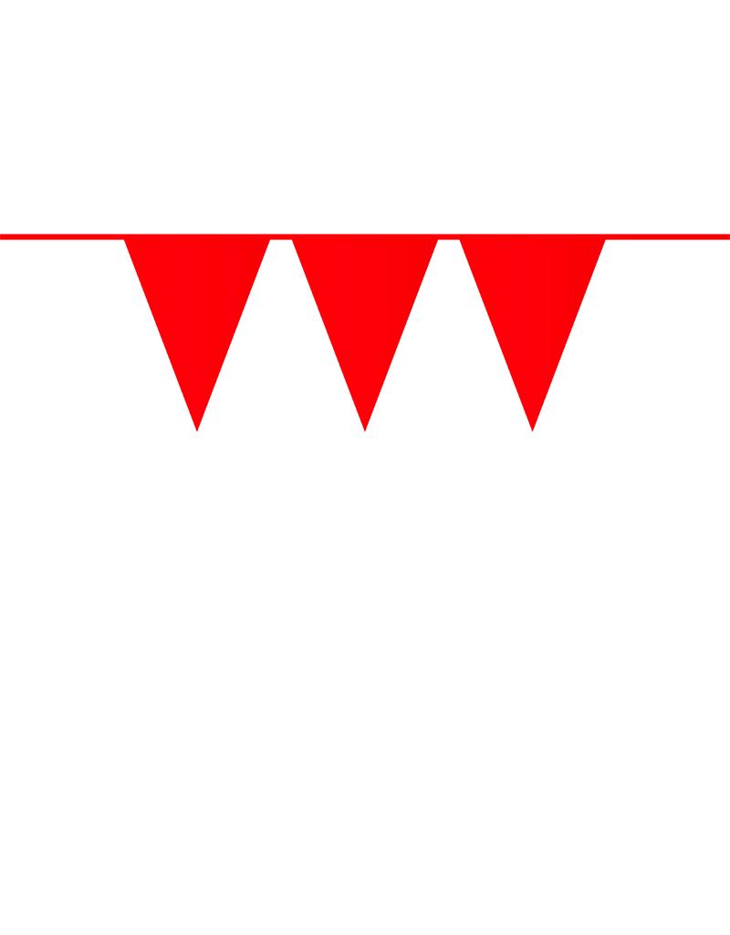 HAZA Vlaggenlijn rood | 10 meter