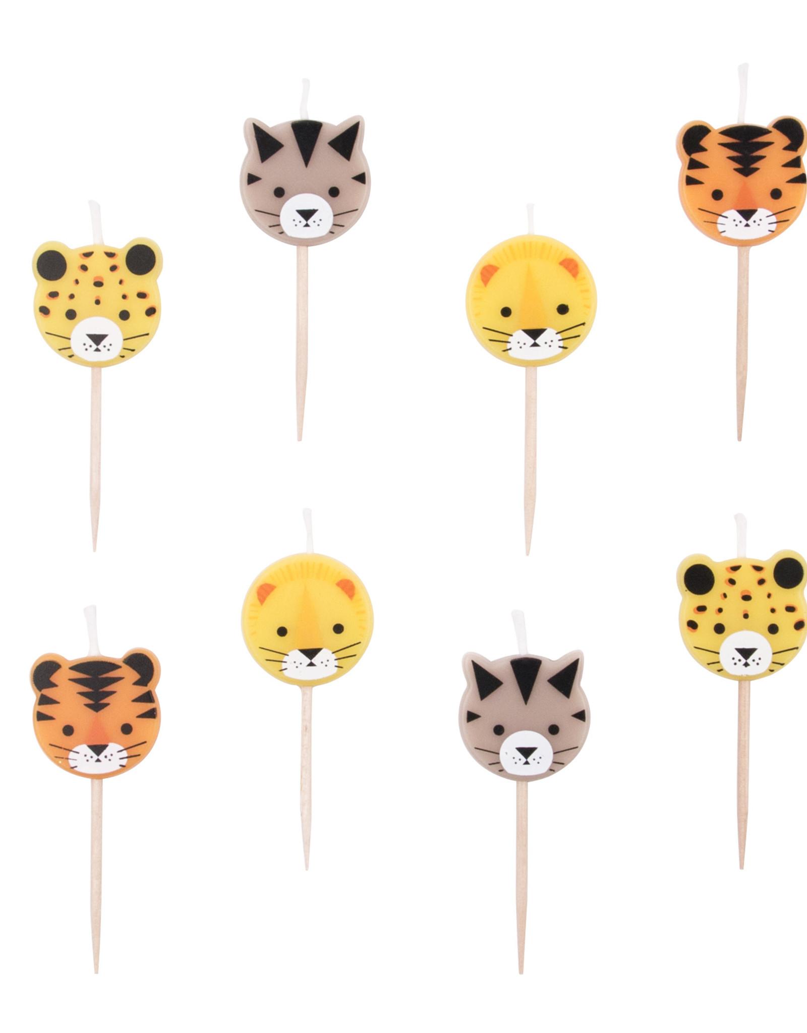 My Little Day Kaarsjes jungle dieren | 8 stuks