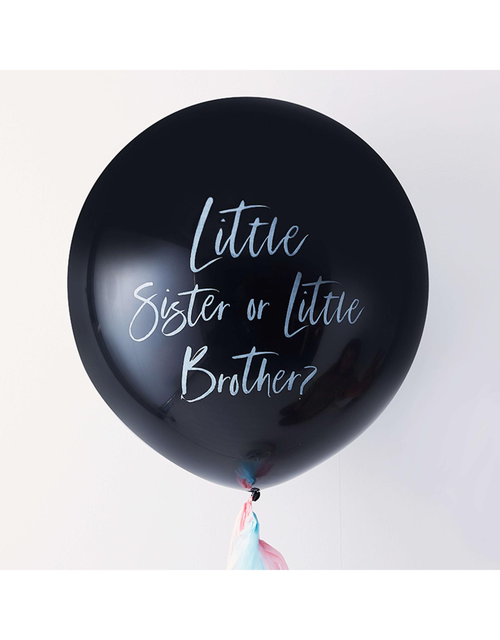 Ginger Ray Gender reveal ballon broertje of zusje | 90 cm