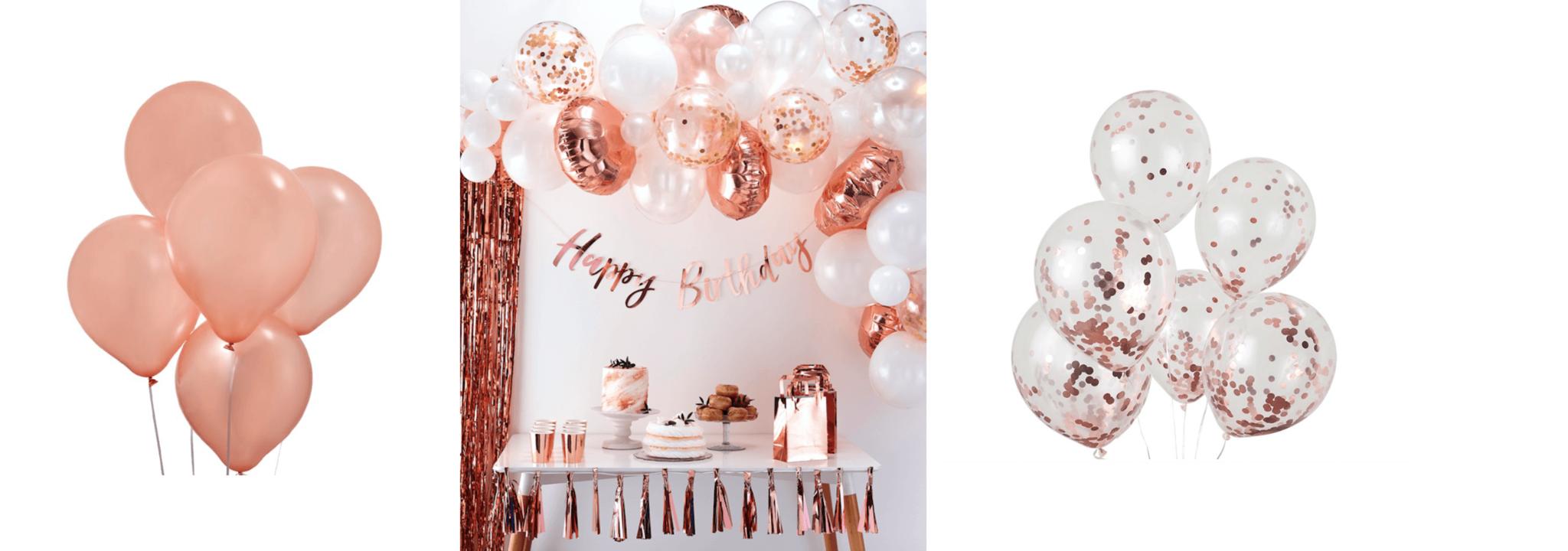Rosé gouden ballonnen