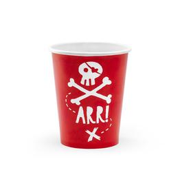 PartyDeco Papieren bekertjes piraten | 6st