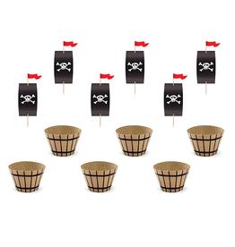 PartyDeco Cupcake kit piraten | 6st