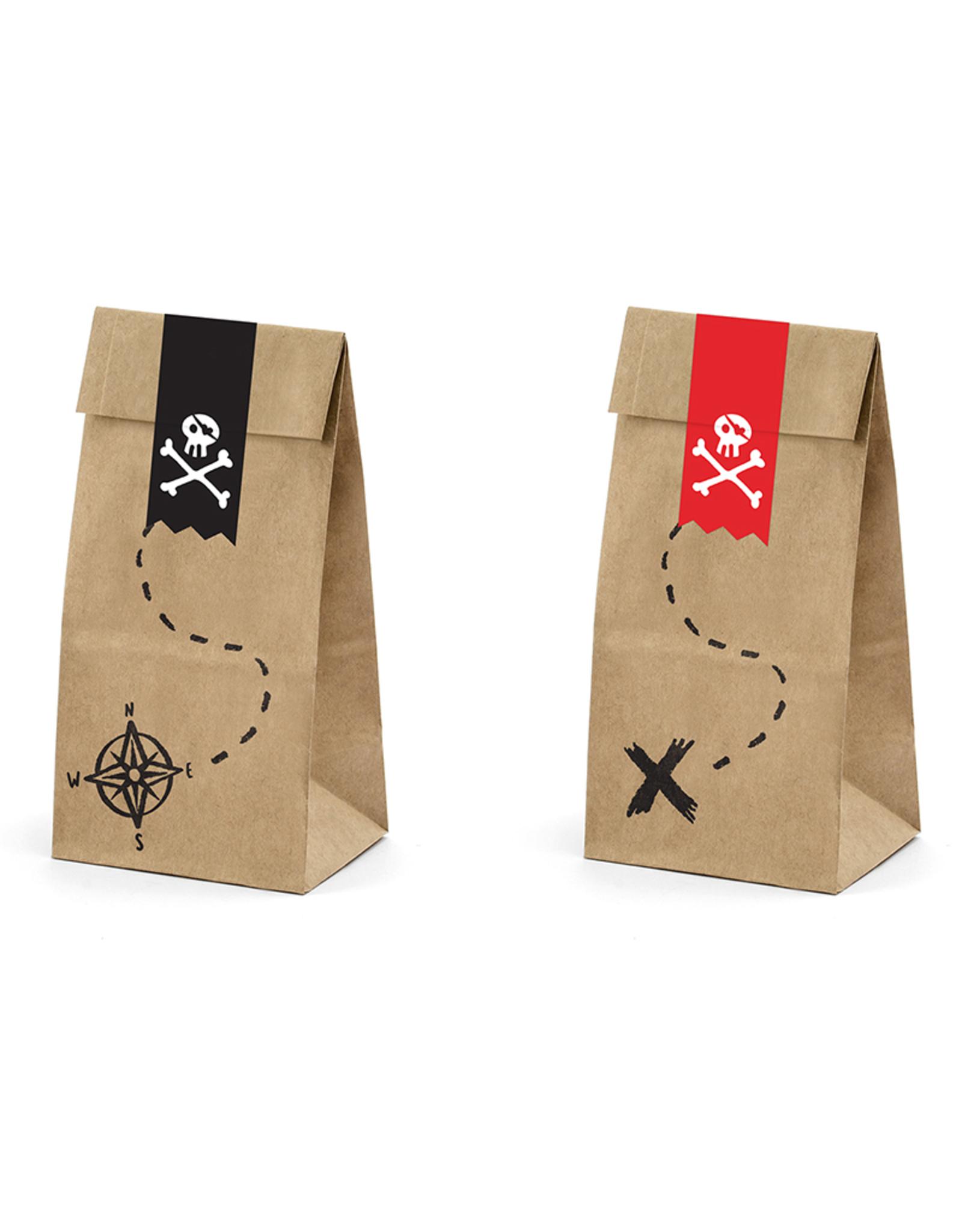 PartyDeco Traktatiezakjes piraten | 6 stuks