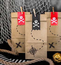 PartyDeco Traktatiezakjes piraten | 6st