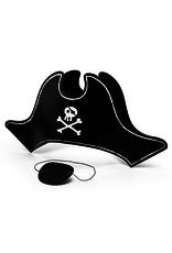 PartyDeco Piratenhoed & ooglap