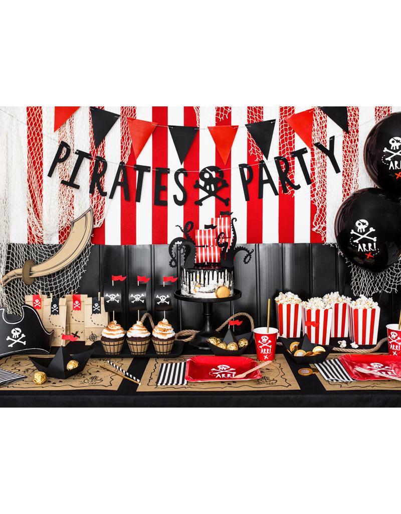 PartyDeco Piraten placemats | 6 stuks