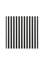 PartyDeco Servetten zwart wit gestreept | 20 stuks