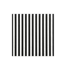 PartyDeco Servetten zwart wit gestreept | 20st