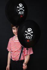 Strong Balloons Ballonnen piratenprint | 6 stuks