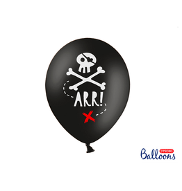 Strong Balloons Ballonnen piratenprint | 6st