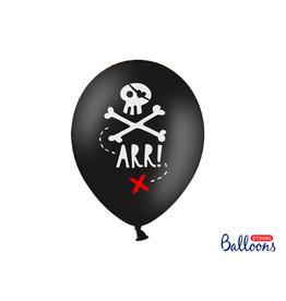 Strong Balloons Ballonnen piratenprint | 6st