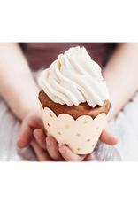PartyDeco Cupcake wrappers pastel perzikkleur | 6 stuks