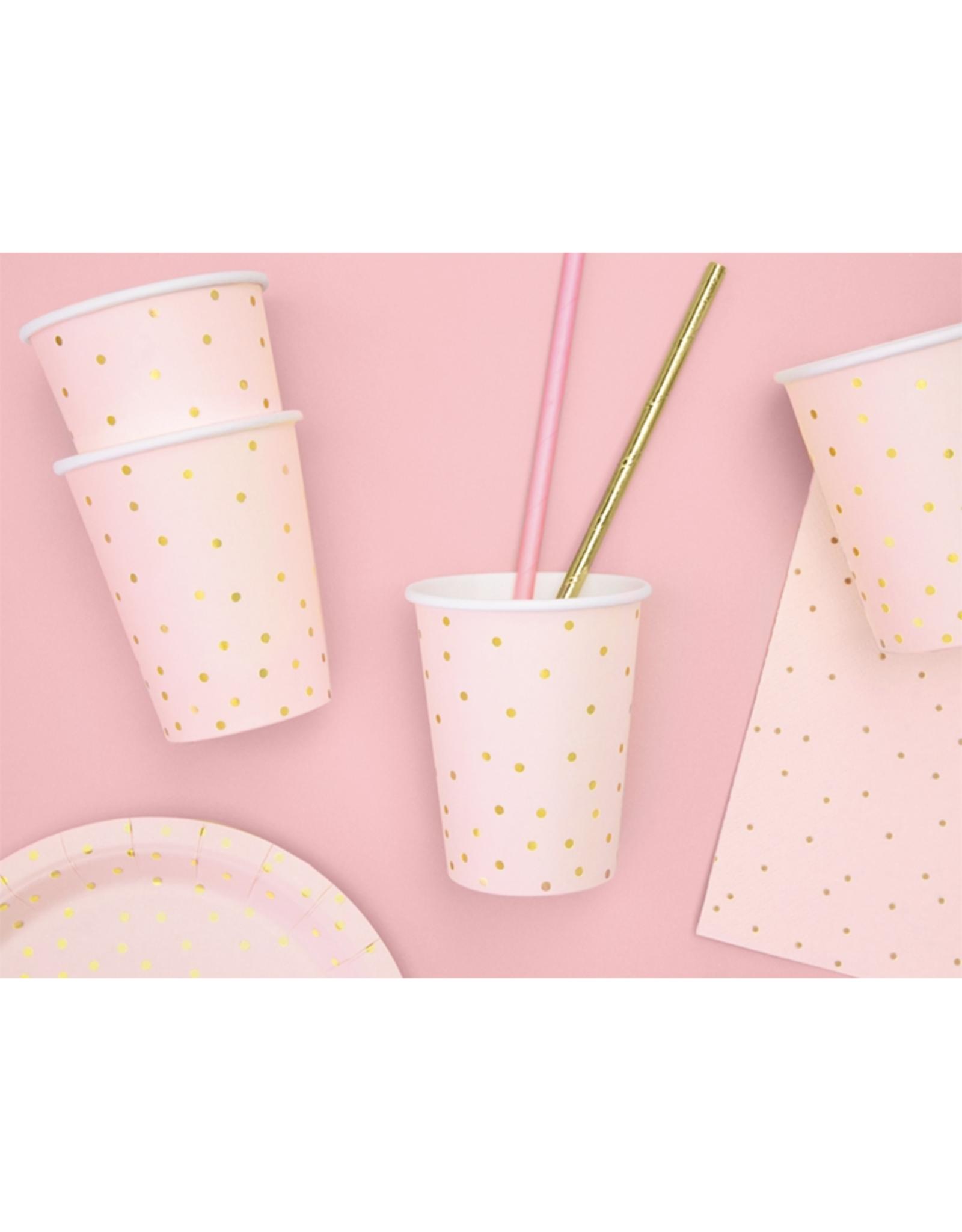 PartyDeco Servetten roze & gouden glitter | 20 stuks