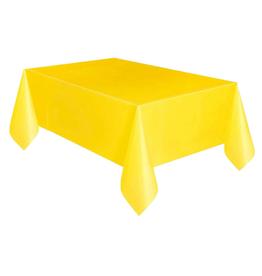 HAZA Plastic tafelkleed geel | 137 x 274 cm
