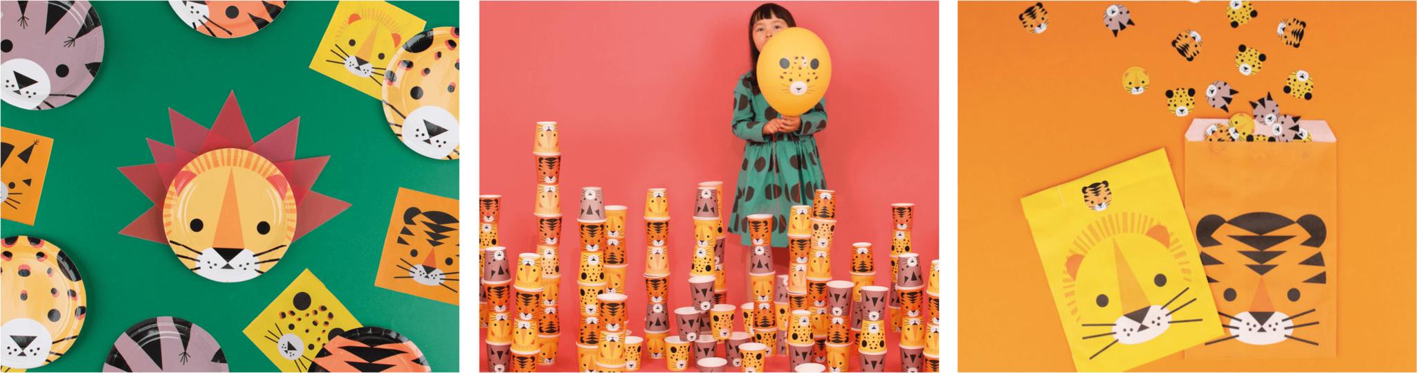 Kinderfeestje versiering thema jungle dieren