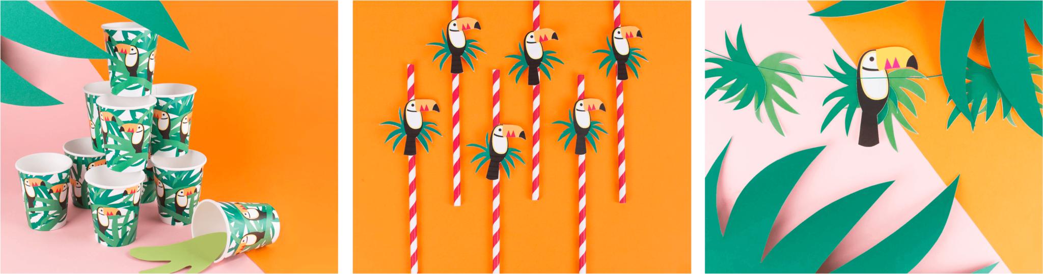 Kinderfeestje versiering thema toucan