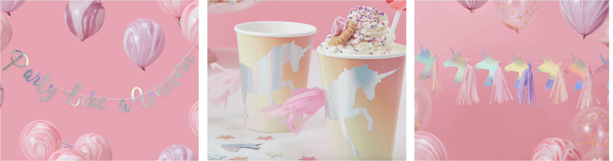 Kinderfeestje versiering thema unicorn