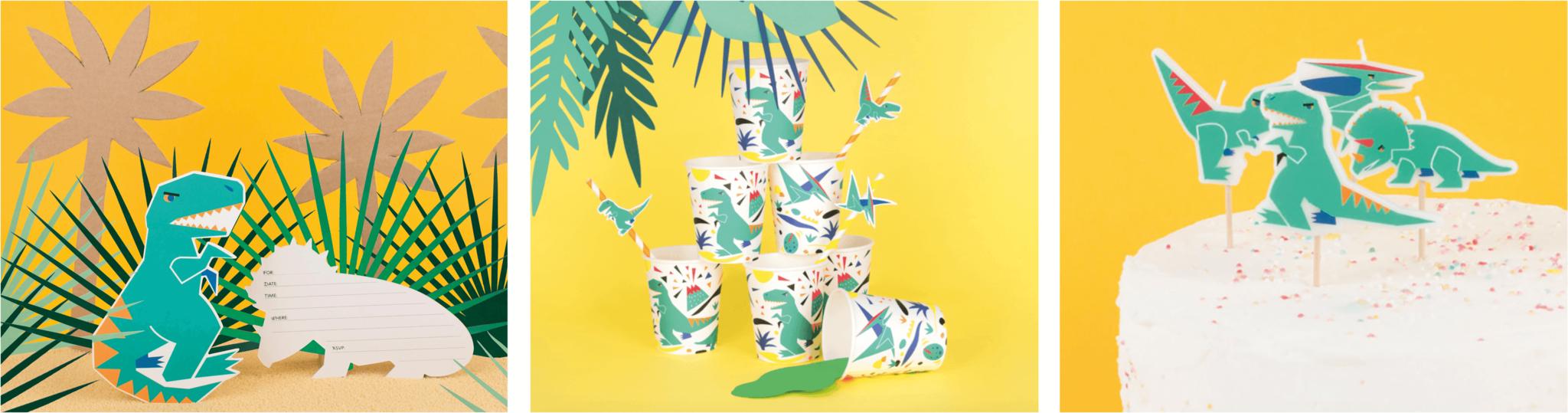 Kinderfeestje versiering thema dinosaurus